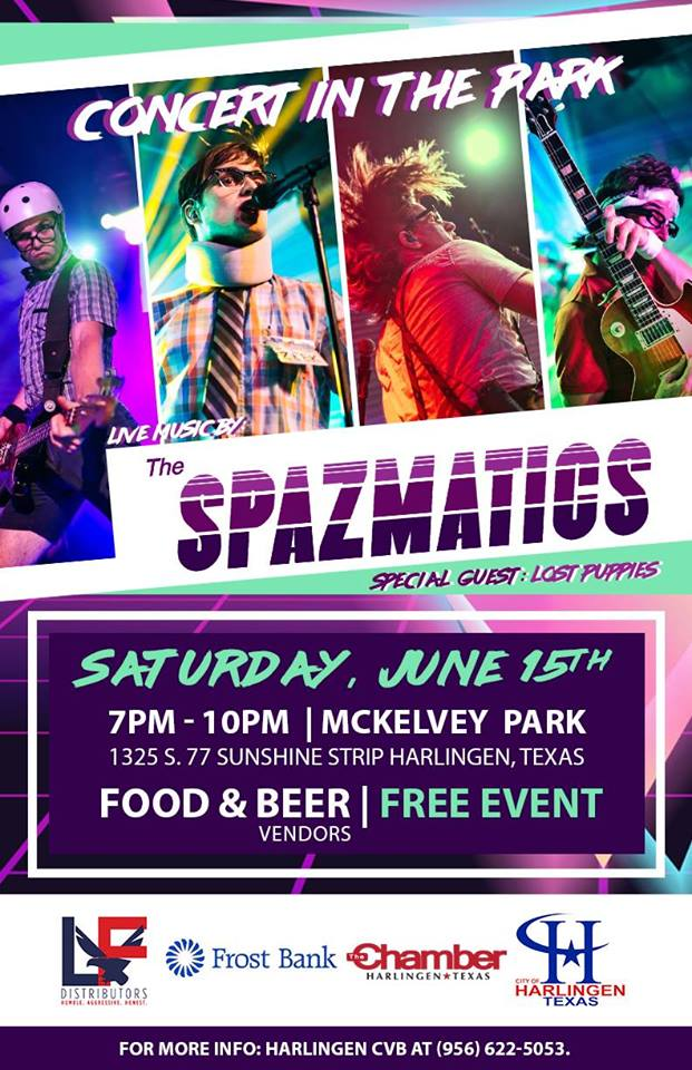 "City of Harlingen Presents ""Concert in the Park"" Live Music By The Spazmatics"