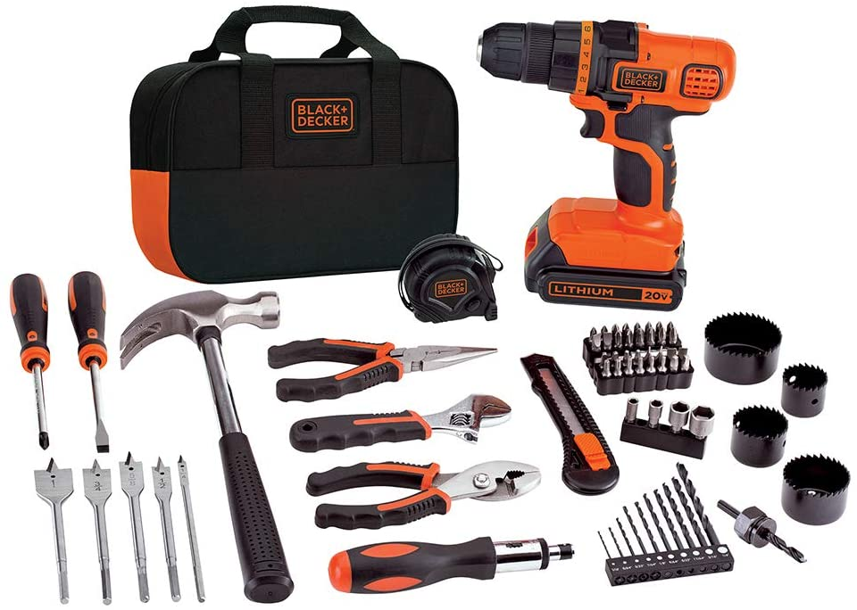 20V MAX Drill & Home Tool Kit