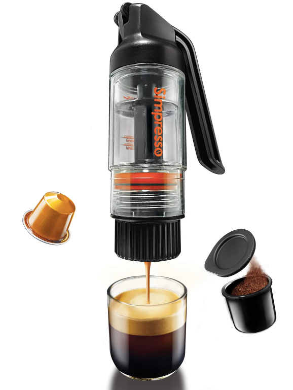 Simpresso Portable Espresso Maker (Premium Travel Package) - All Accessories Included