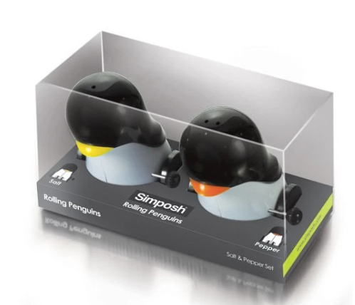 Rolling Penguins - Salt & Pepper Movers & Shakers